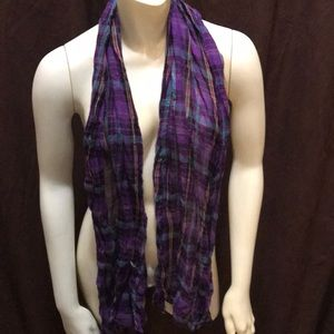 Purple flannel scarf